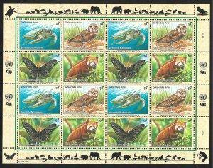 Doyle's_Stamps: 1998 U.N. Endangered Species Sheet Set