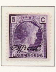 Luxembourg 1928-35 Early Issue Fine Mint Hinged 1c. Optd Official 151010