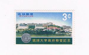 Ryukyu 145 MNH Univ of Ryukyus 1966 (R0606)