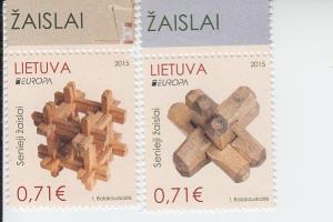 2015 Lithuania Europa - Toys (2) (Scott 1050-51) MNH