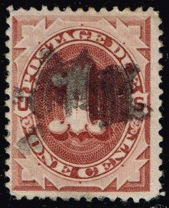 US STAMP #J22 – 1891 1c Postage Due Stamp Used $2