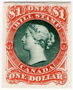 (I.B) Canada Revenue : Bill Stamp $1 (Printer's Proof)