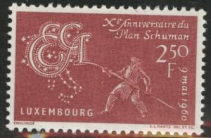 Luxembourg Scott 359 MNH** 1960 Coal an Steel stamp CV$.60