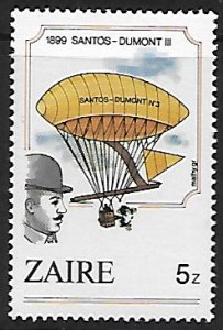 Zaire # 1163 - Hot Air Balloon - MNH