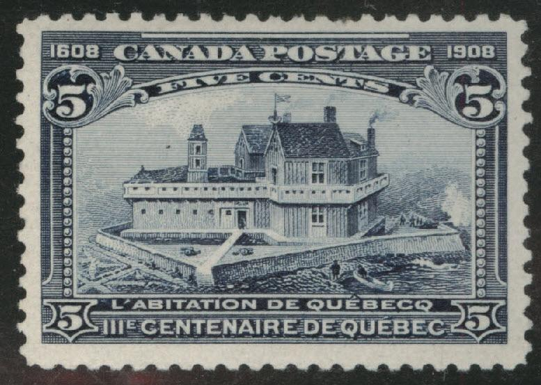 CANADA Scott 99 MH* 1908 Quebec Issue CV$125