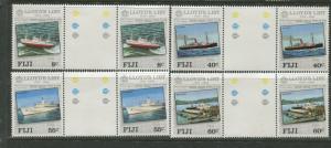 Fiji - Scott 509-512 - Lloyds List Issue -1984 -MNH -Gutter Pair Set of 4 Stamps