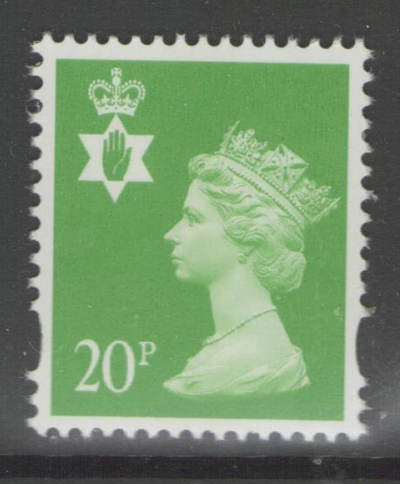 NORTHERN IRELAND SGNI79 1997 20p BRIGHT GREEN (1cb) PHOTO PRINTING MNH