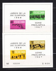 Mexico C329a, C331a Set MNH Sports, Olympics (A)