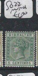 GIBRALTAR  (PP0207B)  QV  5C  SG  22   MNH