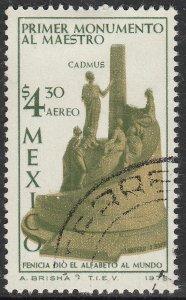 MEXICO C467 Teachers Monument Cadmus alphabet  USED. F-VF. (1323)