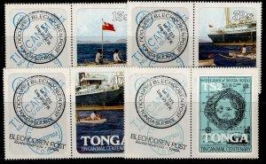 TONGA QEII SG817-820, 1982 tin can mail centenary set, NH MINT.