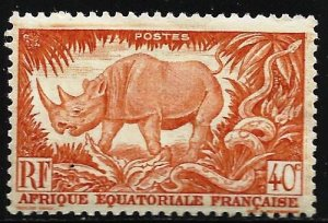 French Equatorial Africa 1946 Scott# 168 MH