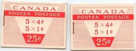 Canada USC #BK51a Long & Short Staple 1c & 4c Panes - VF-NH