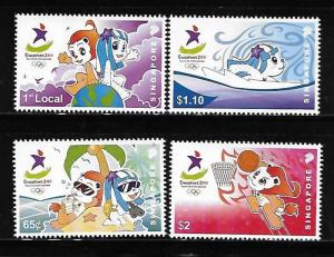 Singapore 2010 Youth Olympic Games Swimming Basketball MNH A414