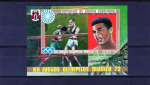 Equatorial Guinea 1972 Muhammad Ali s/s Imperforated mnh.vf