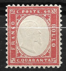 Doyle's_Stamps: MH  Italy 1862  40c Postage Stamp, #20*  cv $250