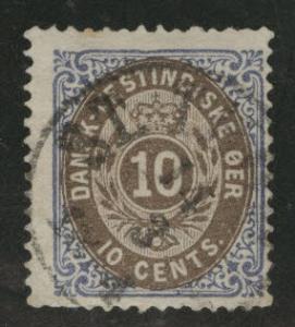 Danish West Indies DWI  Scott 10 used CV$30
