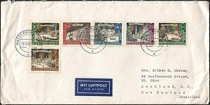 GERMANY 1962 airmail cover to New Zealand - nice franking..................17009