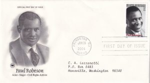 2004, Honoring Paul Robeson, PCS, FDC (E12167)