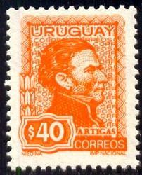 General Jose Artigas, Uruguay stamp SC#842 mint