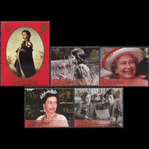 GIBRALTAR 2002 - Scott# 896-900 Queen Birthday Set of 5 NH