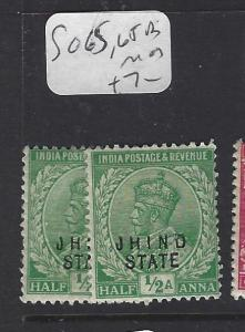 INDIA  JIND  (P2410B)   KGV  1/2A   SG 65, 65A  MOG