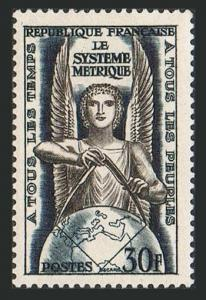 France 732,MNH.Michel 1024. Metric system was first introduced in France,1954.