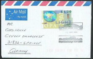 AUSTRALIA 1995 cover to Germany - nice franking - Sydney Pictorial pmk.....14702