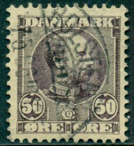 DENMARK #68 50ore Chr IX, used, VF, Scott $120.00