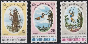 New Hebrides - French Issues 154-156 MNH (1969)