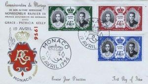 MONACO 366-368 ROYAL WEDDING - FDC