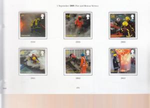 2009 FIRE AND RESCUE UMM/MNH SET SG2958-SG2963 BELOW FACE VALUE