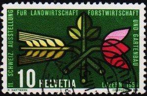 Switzerland. 1954 10c S.G.549 Fine Used
