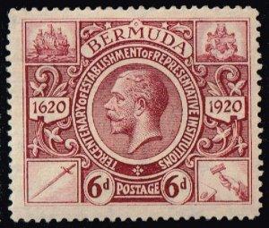 Bermuda #78 King George V; Unused (3Stars)