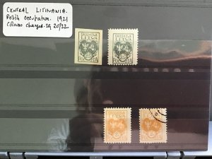 Lithuania stamps on stock card   R29855