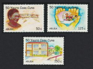 Aruba 50th Anniversary of Casa Cuna Children's Home Foundation 3v SG#394-396