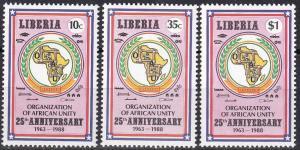 Liberia #1082-4  MNH  CV $6.45 (K2062)