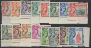 NORTH BORNEO SG391/406 1961 DEFINITIVE SET MNH