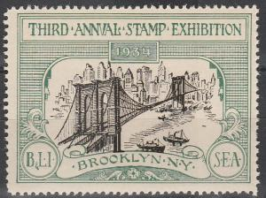 US 1934 Stamp Exhibition Brooklyn NY (S1266L)