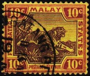 Malaya(Federated Malay States). 1900 10c S.G.67 Fine Used