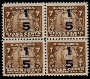 CANADA Excise stamp MNH block of 4  FX22...................................48251