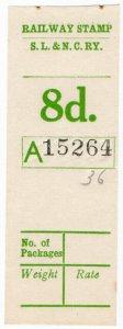 (I.B) Sligo Leitrim & Northern Counties Railway : Parcel Stamp 8d