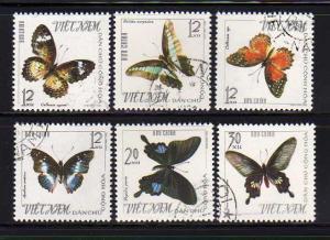 North Vietnam 398-403 Set U Butterflies (C)