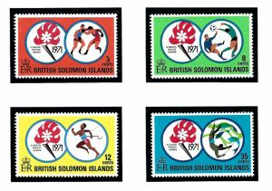 Solomon Is 222-25 MNH 1971 South Pacific Games