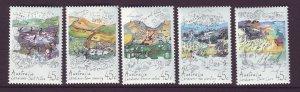 J24291 JLstamps 1992 australia set mnh #1267a-e land care