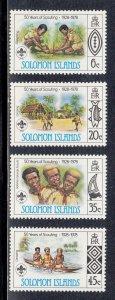 Solomon Islands Scott #377-380 MNH