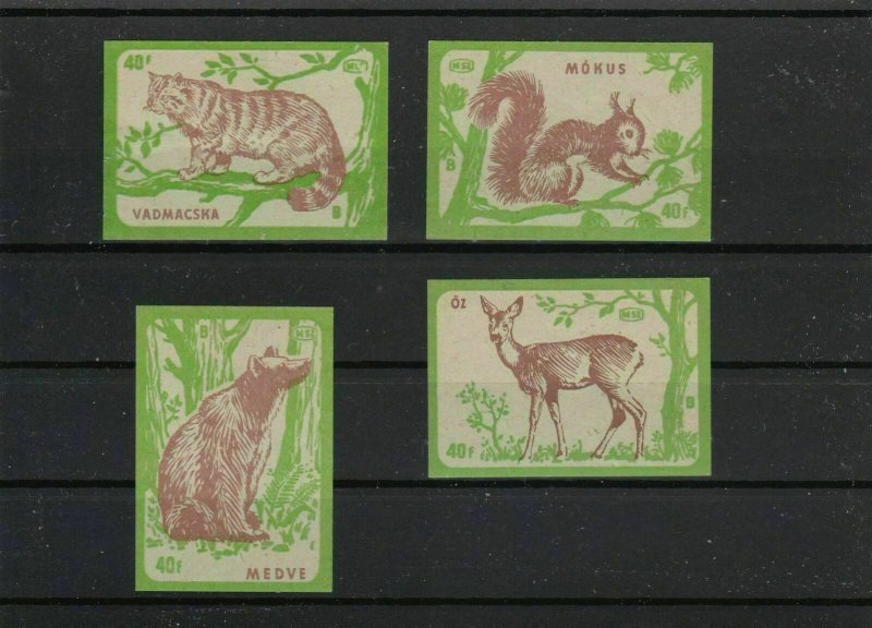 vintage forest animal lightly mounted mint  stamps  ref r8863