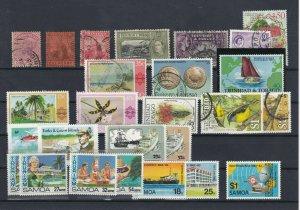 Trinidad + Tobago + Samoa. MM + Used Stamps Ref: R7098