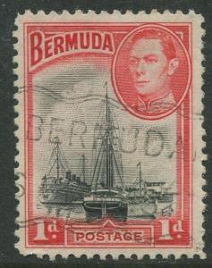 Bermuda #118a KGVI Used  Scott CV. $1.50