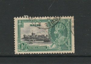 Malta 1935 Silver Jubilee /2d LIGHTNING CONDUCTOR Used SG 210c but